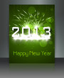 2013 new year green celebration colorful gift card background il