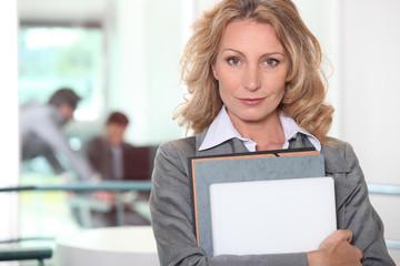 A confident businesswoman