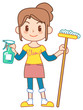 The mom who does housework01
