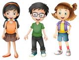 Fototapety A boy and girls