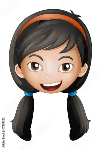 A face of a girl