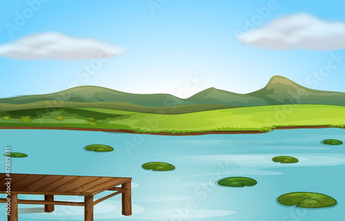 A jetty and a river