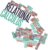 Word cloud for Relational calculus poster