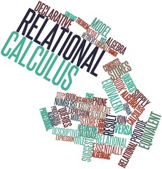 Word cloud for Relational calculus