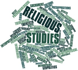 Word cloud for Religious studies