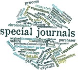 Word cloud for Special journals