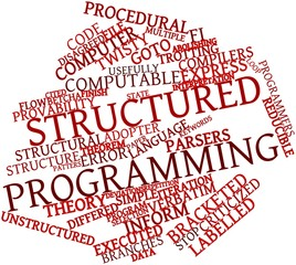 Word cloud for Structured programming