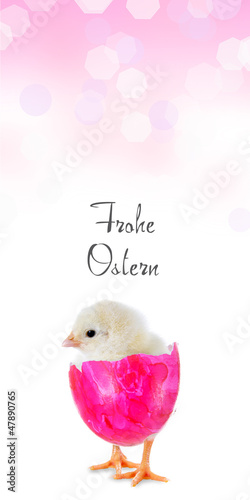 Frohe Ostern Banner rosa