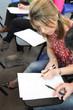 Student doing exam