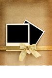 Polaroid photo frame on vintage background