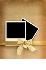 Polaroid photo frame on vintage background