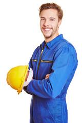 Handwerker mit Schutzhelm