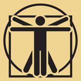 Vector minimalistic vitruvian man - 47893349