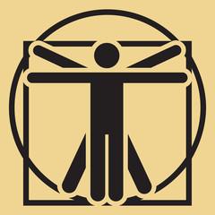 Vector minimalistic vitruvian man
