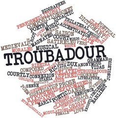 Word cloud for Troubadour