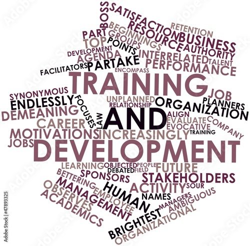Word cloud for Training and development