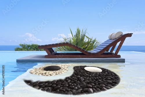 Fototapeten,pool,yin,sonne,yang