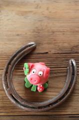 Glücksschweinchen Hochformat