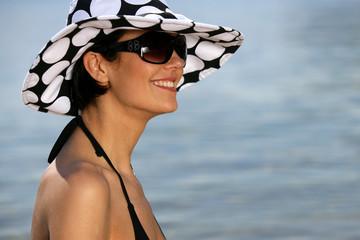 Attractive woman in the sea