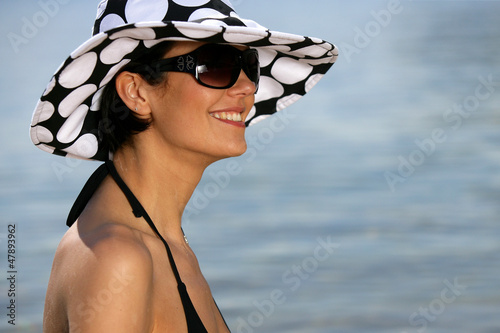 Attractive woman in the sea