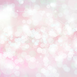 Fototapety Pink defocused lights background with copy space