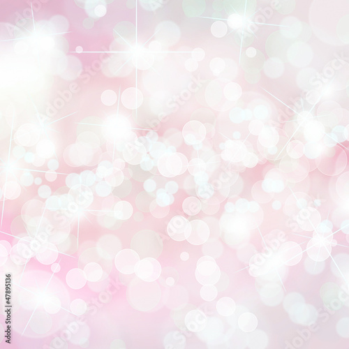 Pink defocused lights background with copy space