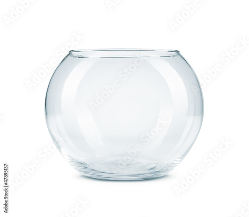 Empty fish bowl isolated on white background - 47895137