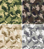 Different Camouflage Seamless Patterns