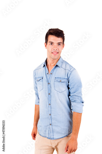Portrait of handsome young man in casual clothes