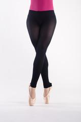 Gambe ballerina in punta di piedi