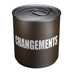 Changements - Boite de conserve