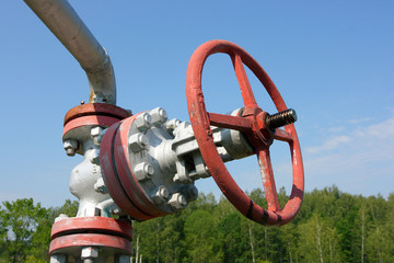 Oil valve of an oil well mouth