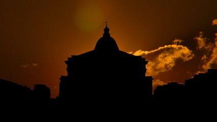 France Paris Pantheon sunset