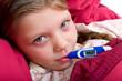 Mädchen mit Fieber
