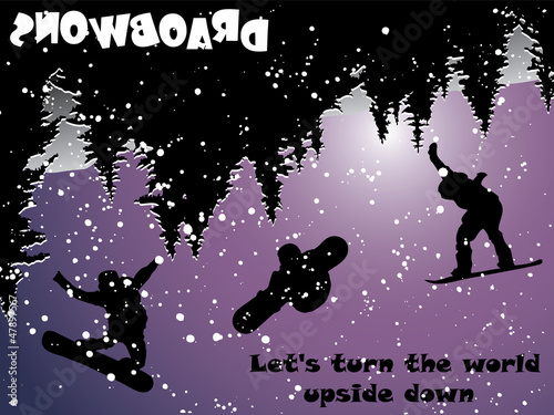 Snowboard Upside Down