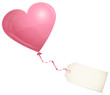 Flying Rose Heart Balloon & Label