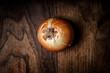 onion on wood