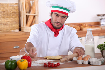 Italian cook cooking