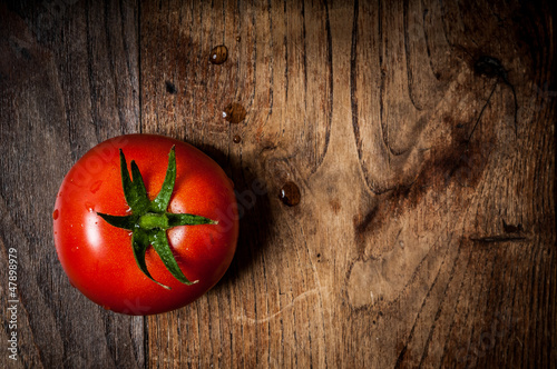 tomato on wood