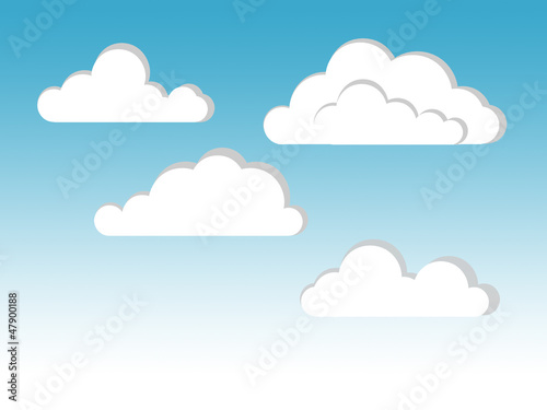 Aluminium Hemel cloud illustration