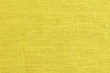 close up yellow linen texture background