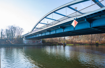 Bridge over Spree at Fuerstenwalde