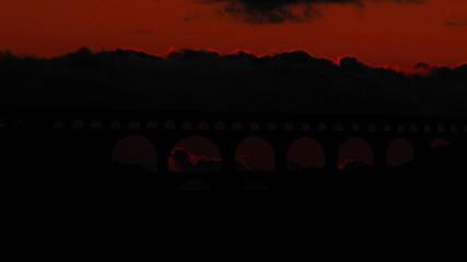 France Pont du Gard sunset