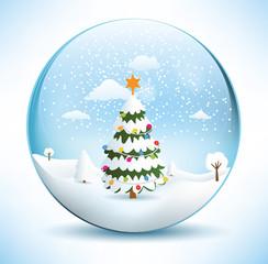 Christmas Sphere Scenery