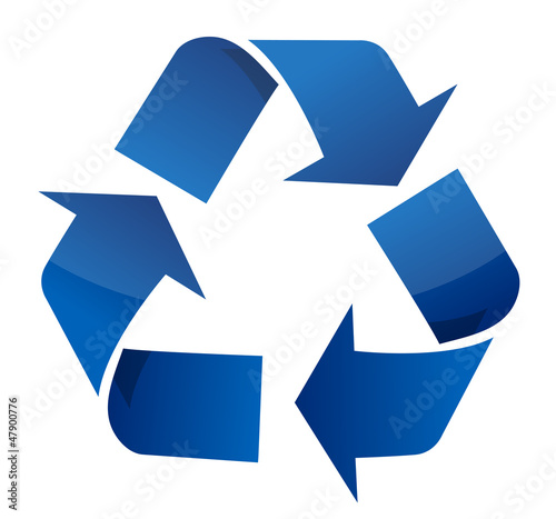 Recycle blue sign