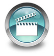 "Light Blue Glossy Pictogram ""Clapperboard"""