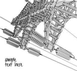 Power Transmission Line, vector illustration