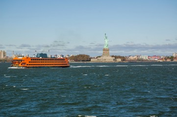 State Island Ferry Passing Liberty Island
