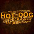 Hot Dog Text Cloud