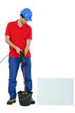 tradesman at work poster